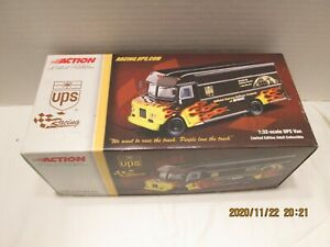 """NASCAR SPECIAL EDITION UPS VAN WITH FLAMES 1:32 SCALE DIECAST  """" BRAND NEW"""""""