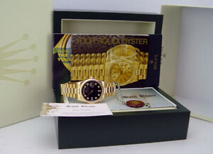 ROLEX - Mens 18kt Gold DAY DATE President Black Diamond 118238 - SANT BLANC
