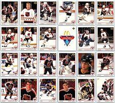 1991-92 MCDONALDS UPPER DECK HOCKEY COMPLETE 25 CARD SET LOT + HOLOGRAMS Gretzky