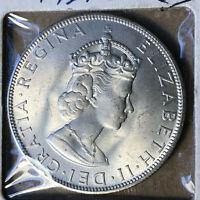 1964 Bermuda 1 Crown Silver Coin