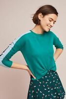 Anthropologie by Needle Green Gabriella  Pure Cashmere Jumper size L