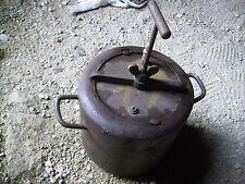 AUTO CUISEUR 1900 Cocotte Minute BOIS FONTE  ACIER Marmite COCOTTE Rare