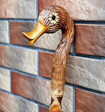 Duck Cane Walking Stick Wood Handmade Wood Carving Exclusive Gift=)....