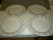 """Longaberger Pottery Woven Traditions Heritage Green 10"""" Dinner Plates 4 - USA"""