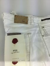 PT05 white cotton jeans sz34  Made  in Italy retail $365