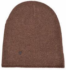 New Gucci 352350 Men's Brown Beige Wool Cashmere Beanie Ski Winter Hat M