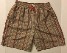 PAUL SMITH JUNIOR Boys Striped Short Swim Trunk  Bathing Suit 14A NWT