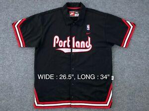 RARE VTG Early 00s NBA Portland Trail Blazer 1976 Nike Warm Up Shooting Shirt XL
