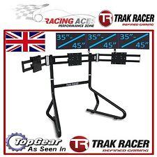"Trak Racer Triple Monitor Gaming RACING SIMULATOR STAND Cornice contiene 3X 35"" 45"""