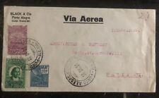 1931 Porto Alegre Brésil Poste Aérienne Commercial Housse à Paris France