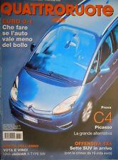 Quattroruote 614 2006 Prova C4 Picasso. Sette Suv in arrivo. I piani Fiat [Q.34]