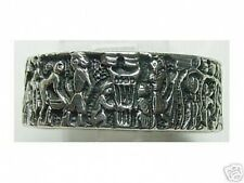 Mural Life of Egyptian Ring Real Sterling Silver .925 egypt Pharaoh King Jewelry