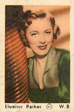 DUTCH MOVIE STAR GUM CARDS - No. 047 ELEANOR PARKER