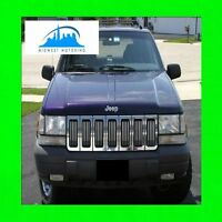 1993-1998 JEEP GRAND CHEROKEE CHROME GRILLE GRILL TRIM 1994 1995 1996 1997