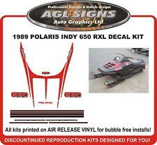 1989 POLARIS INDY RXL 650 Reproduction Decal Set