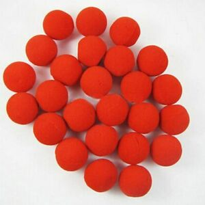 10pcs Red Ball Foam Circus Clown Nose Comic Party Halloween Costume Hot Sales