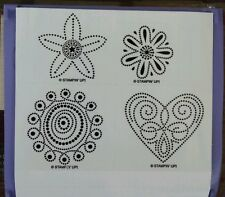 Stampin' Up POLKA DOT PUNCHES Set of 4 Unmounted Rubber Stamps Lot Flower Heart