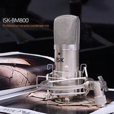 iSK BM-800 Large Diaphragm Studio Condenser Microphone Broadcast Recording Mount