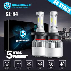 For BA BF FG Ford Falcon XR6 LED Headlight Upgrade Kit H4 Hi-Lo White LED Bulbs