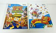 Nintendo Wii Samba De Amigo Jelly Belly Ballistic Beans Zoo Lot of 2 Games
