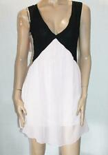 Rich Coco Brand Black Pink Soft Chiffon Dress Size S/M BNWT #TD54
