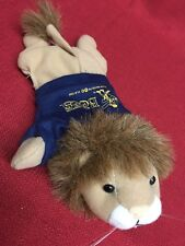 ASI Plush Bean Bag Stuffed Lion Animal 62960 Doorstop 8 3/4 Burlington Bees 1999