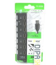 Hub Sdoppiatore Usb TeKone YC-208 7 Porte Interruttori On off Multipresa Pc hsb