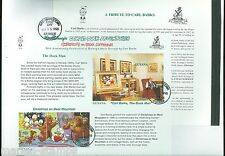 GUYANA DISNEY COMIC BOOKLET EXPLODED ON 11 FIRST DAY COVERS EXTREMELY RARE