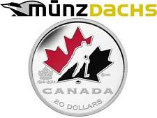 $ 20 Dollar 100th Anniversary of Ice Hockey Canada 1 oz fine silver enamel 2014