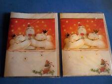 2 Musical Christmas Cards 3D Bears Hugging Plays Jingle Bells Lights Up!