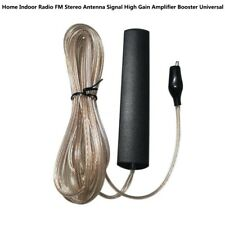 Home Indoor Radio FM Stereo Antenna Signal Gain Amplifier Booster Universal TW
