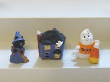 1991-1992 Hallmark Merry Miniatures Halloween Lot of 3 Haunted House Witch Ghost