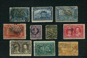50c Edward, 5c Jubilee, plus others Canada used