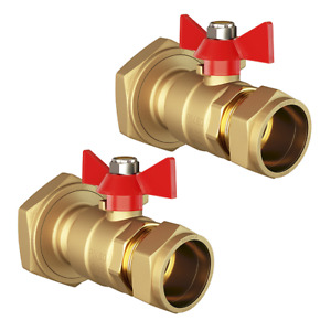 """Pair of Central Heating Pump Valves 