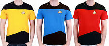 Star Trek The Next Generation Enterprise Crew Uniform T-Shirt Fasching Kostüm