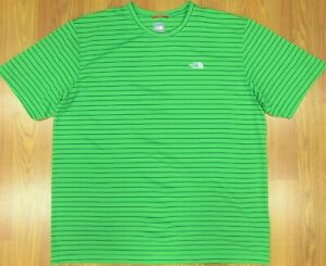 THE NORTH FACE T-SHIRT POLYESTER GREEN & NAVY Sz X-LARGE, XL