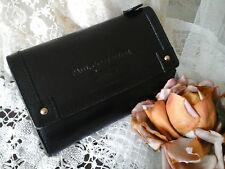 Genuine PAUL COSTELLOE Designer Black Leather Purse Wallet ~ Excellent Quality!