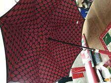 Lulu Guinness Walking umbrella red lips, red handle new