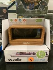 Capello Ci320 Bluetooth Speaker with Clock - Wood