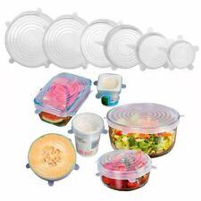 6PCS Stretch Reusable Silicone Bowl Wraps Food Saver Cover Seal Insta