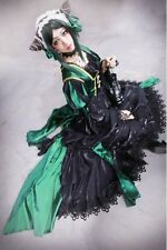 8Original Beautiful Black Butler Sieglinde Sullivan Green Witcn Cosplay Costume