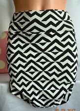 Victorias Secret Pink High Waist Bodycon Mini Skirt Chevron NWT XS