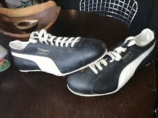 Vintage Puma First Down Black Leather Soccer Cleats Football Shoes Size 12 Nos