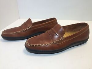 Cole Haan Penny Loafer Brown Leather Moc Toe Men's Size 8 M