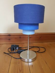 NEXT THREE TIER BLUE PENDANT BEDSIDE / TABLE LAMP / LIGHT