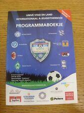 06/08/2010 torneo internacional U19 ser rápido: programa de torneo, incluye