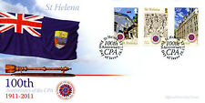 St Helena 2011 FDC CPA Commonwealth Parliamentary Assoc Cent 3v Set Cover Stamps