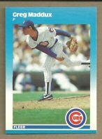 HOF Greg Maddux 1987 Fleer Update U-68 RC Rookie Chicago Cubs Atlanta Braves