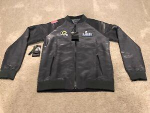 Los Angeles Rams Nike Super Bowl LIII Bound Media Night Bomber Jacket Wms Small