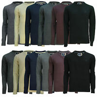Soul Star New Men's Crew & V-Neck Jumper Acrylic Sweater Thin Knit Pullover